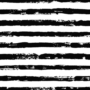 Irregular black striped pattern seamless hand drawn print by amovitania