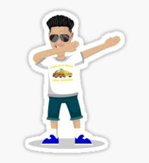 DJ Pauly D Dabbing Funny Pauly D Tee and Jersey Shore Dabbing Dance Move Sticker