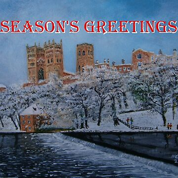 Durham Cathedral Winter Scene by CrossanArt