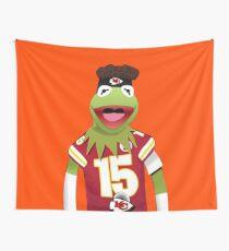 Kermit Mahomes Meme Wall Tapestry