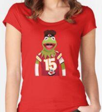Kermit Mahomes Meme Women's Fitted Scoop T-Shirt