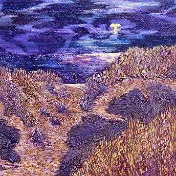 Moon on the Dunes by Naquaiya