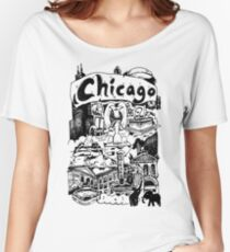 Chicago Illinois Windy City USA Women's Relaxed Fit T-Shirt
