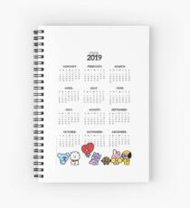 BT21 2019 Calendar Spiral Notebook