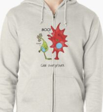 Cell culture problems: glial overgrowth Zipped Hoodie