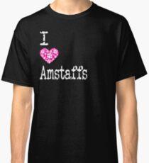 I Heart Amstaffs | Love American Staffordshire Terriers - Dog Breed Classic T-Shirt