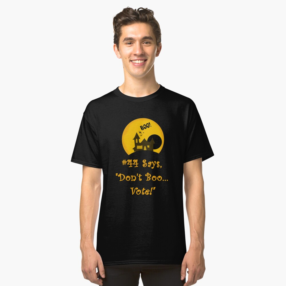 Promoting Voter Registration Halloween Fun and College Students  Classic T-Shirt Front