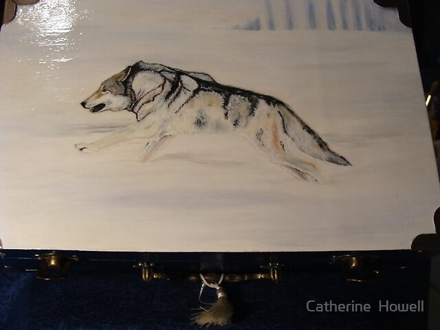 Running Winter Timberwolf Box by Catherine  Howell