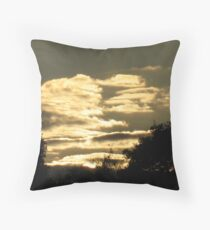 Troubled Dusk Throw Pillow