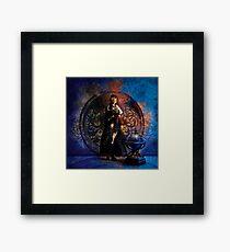 Captain Persephone Blue Framed Print