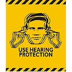 «Use protección auditiva Acid House Flyer» de ELECTRONIC909