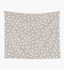 Connectivity - White on Stone Wall Tapestry