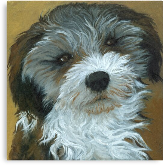 Chico - dog portrait by LindaAppleArt