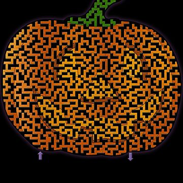 Pumpkin Shaped Maze for Halloween & Fall by gorff