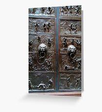 London, Victoria and Albert Museum, a Door Greeting Card