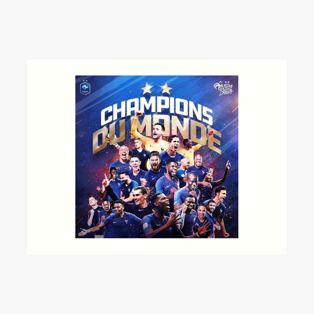 Frankreich - Champions der Welt Kunstdruck