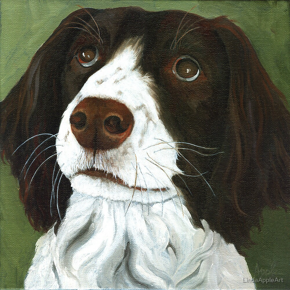 Rueger - dog portrait by LindaAppleArt