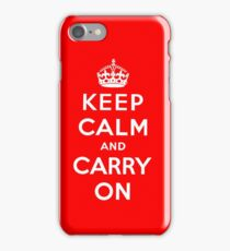 KEEP CALM AND CARRY ON (BLACK) iPhone 7 Case