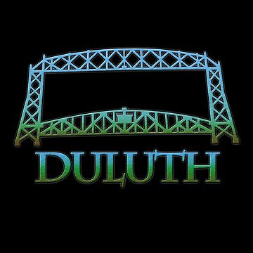Duluth with Aerial Lift Bridge by gorff