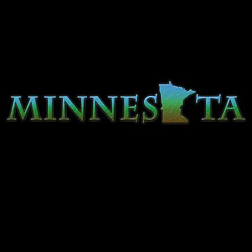 Minnesota State Label with State Outline by gorff