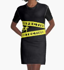 Defective Detective Crime Tape for Murderinos Graphic T-Shirt Dress