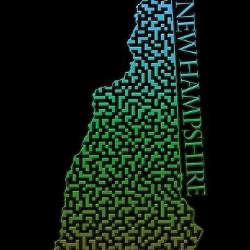New Hampshire State Outline Maze & Labyrinth by gorff