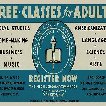 Vintage poster - Adult Education by mosfunky