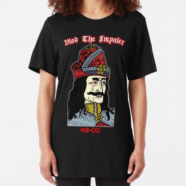 Vlad The Impaler: First Vampire Dracula Slim Fit T-Shirt