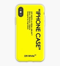 Off White Yellow Skin iPhone Case