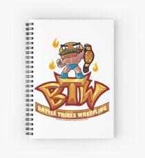 BTW - Battle Tribes Wrestling Logo featuring Jimmy Cheeseburger Spiral Notebook
