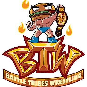 BTW - Battle Tribes Wrestling Logo featuring Jimmy Cheeseburger by spymonkey