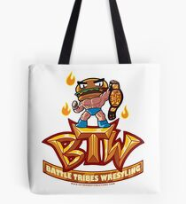 BTW - Battle Tribes Wrestling Logo featuring Jimmy Cheeseburger Tote Bag