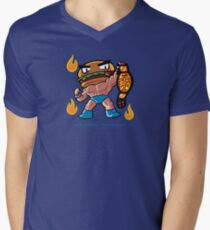 BTW - Jimmy Cheeseburger Men's V-Neck T-Shirt