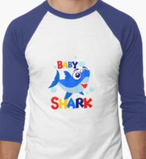 Baby shark 39 Men's Baseball ¾ T-Shirt