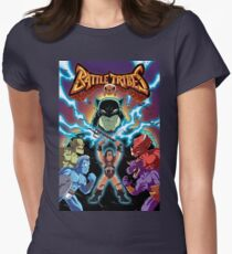 Battle Tribes Illustration (Distressed) Women's Fitted T-Shirt