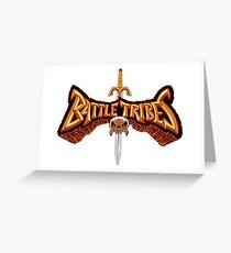 Battle Tribes Sword Logo  Greeting Card