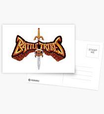 Battle Tribes Sword Logo  Postcards