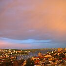 Rainbow Over Sydney at Sunset by TomRaven