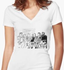 Kreeps with Kids Women's Fitted V-Neck T-Shirt