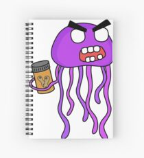 angry zombie jellyfish Spiral Notebook