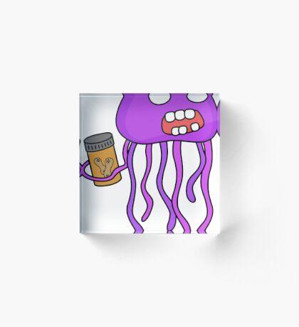 angry zombie jellyfish Acrylic Block