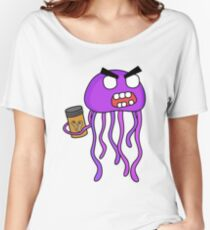 angry zombie jellyfish Women's Relaxed Fit T-Shirt