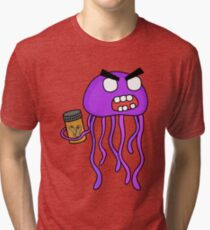 angry zombie jellyfish Tri-blend T-Shirt