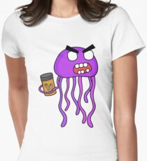 angry zombie jellyfish Women's Fitted T-Shirt
