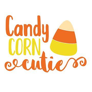 Cute Halloween Shirt Candy Corn Cutie Party Apparel by arnaldog