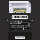 Black Gameboy Color - Silver Cartridge by MarcoD