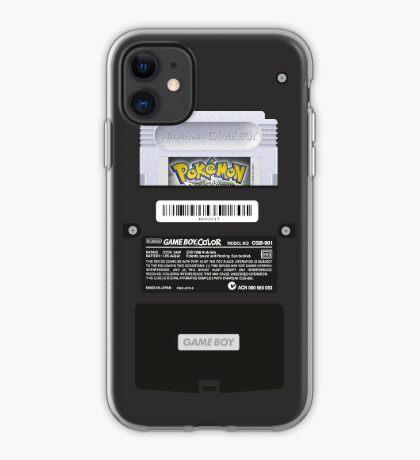 Black Gameboy Color - Silver Cartridge iPhone Case