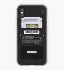 Vinilo o funda para iPhone Black Gameboy Color - Cartucho plateado