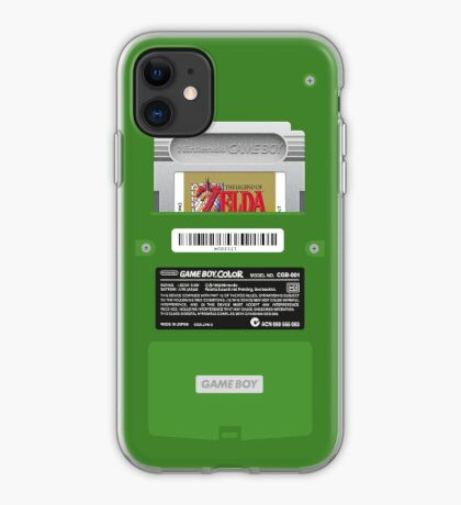Green GameBoy Color Back - Link's awakening iPhone Case