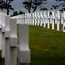 Omaha Beach - US war graves by JimFilmer